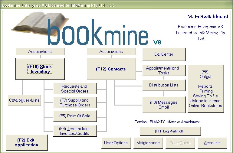 Bookmine - Main Switchboard